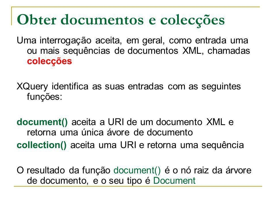 Obter documentos e colecções