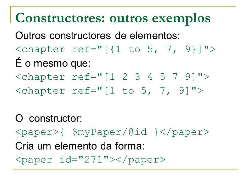 Constructores: outros exemplos