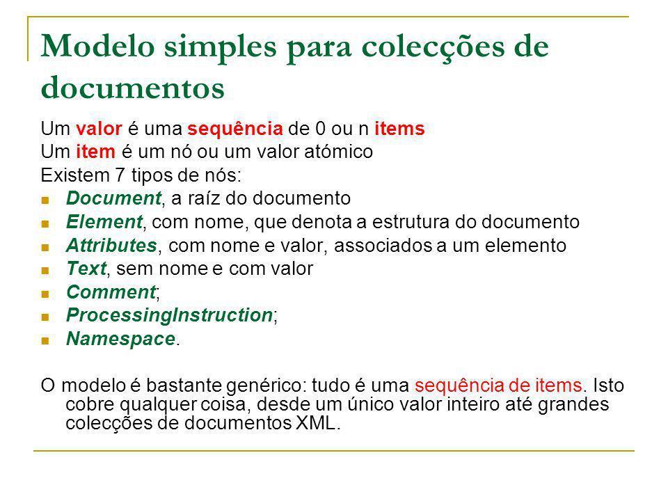 Modelo simples para colecções de documentos