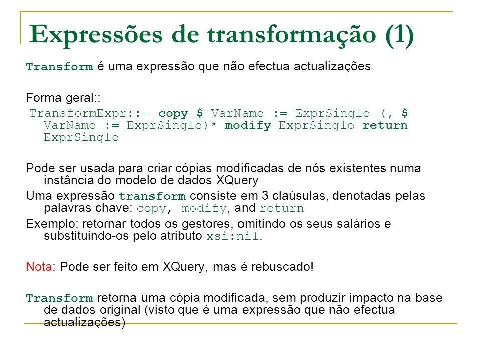Expressões de transformação (1)