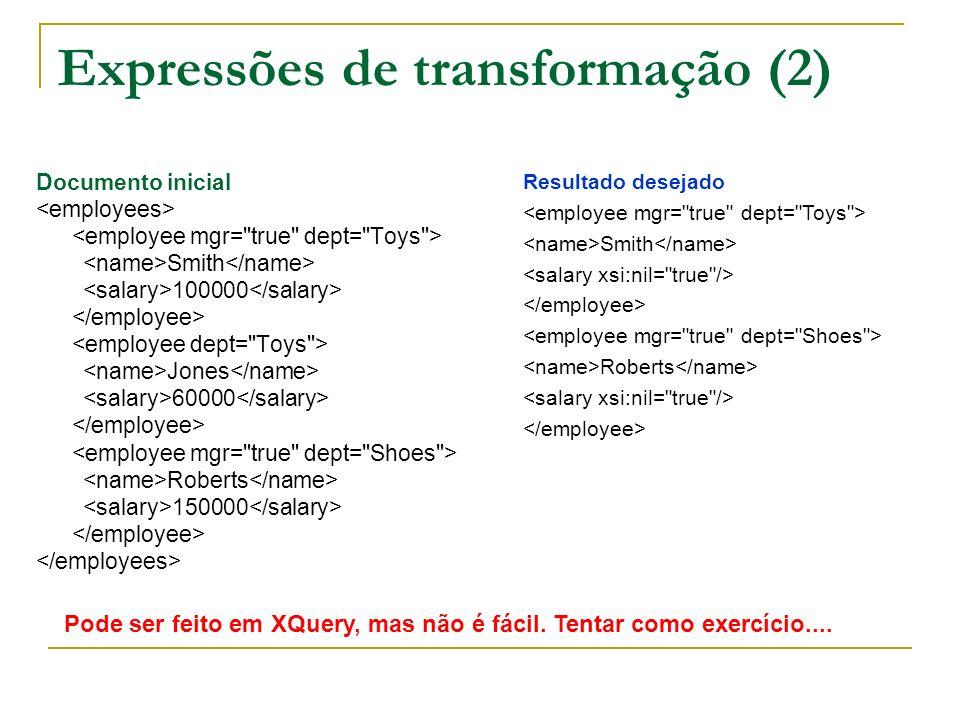Expressões de transformação (2)