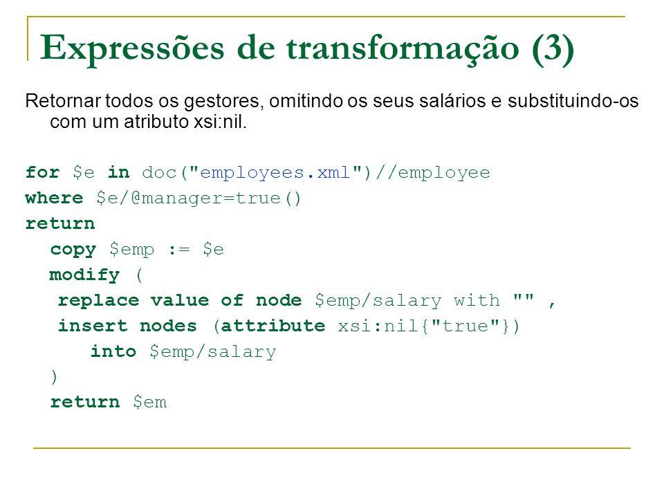 Expressões de transformação (3)