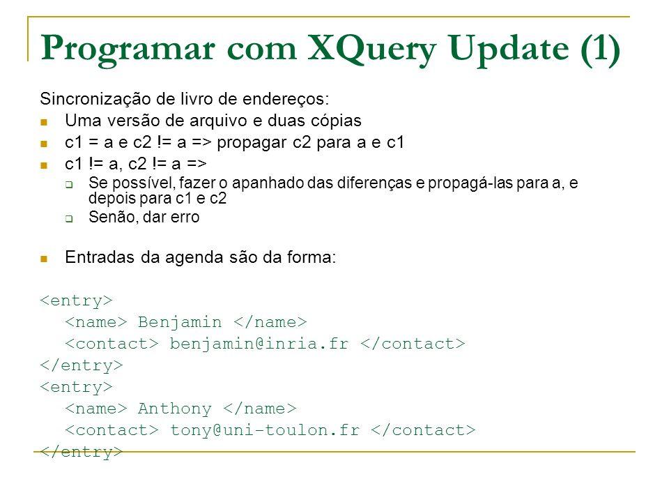 Programar com XQuery Update (1)