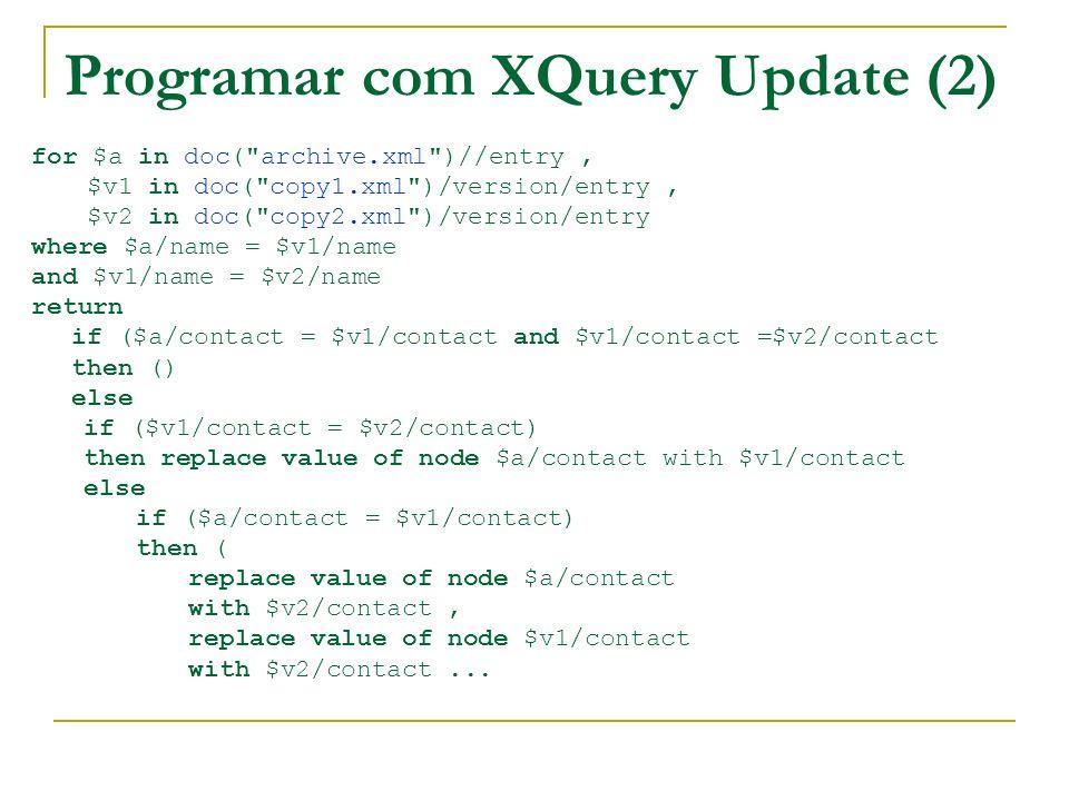 Programar com XQuery Update (2)