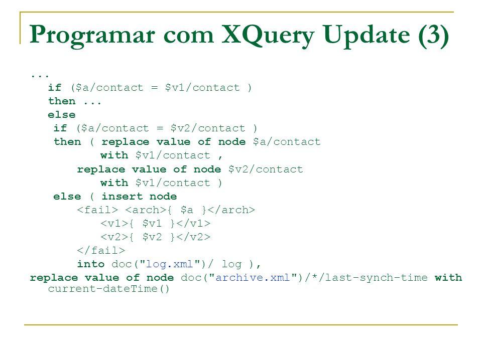 Programar com XQuery Update (3)