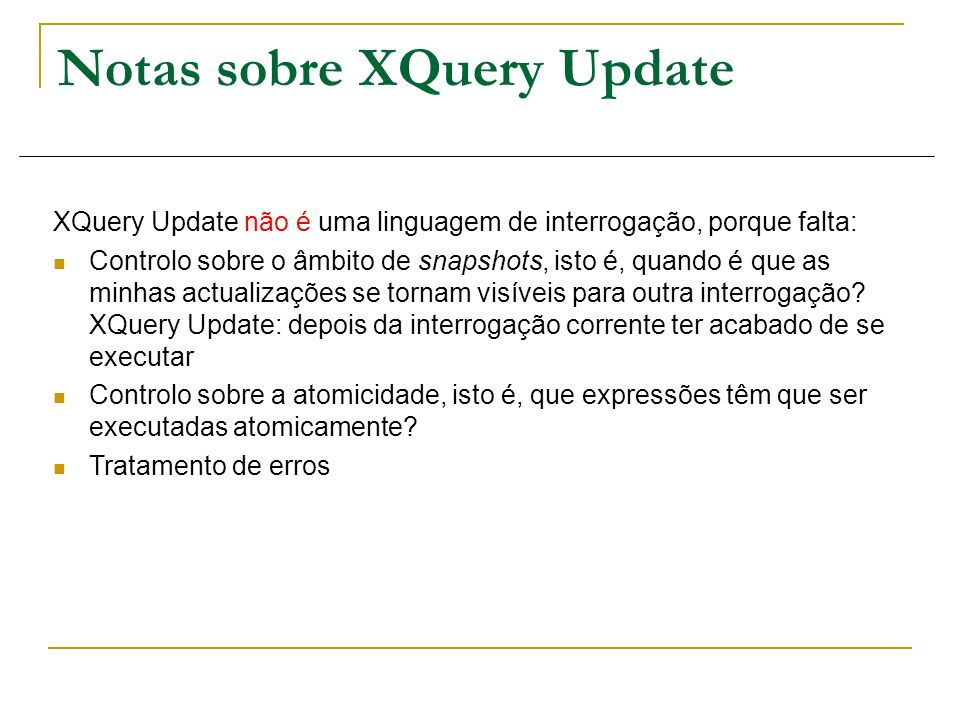 Notas sobre XQuery Update