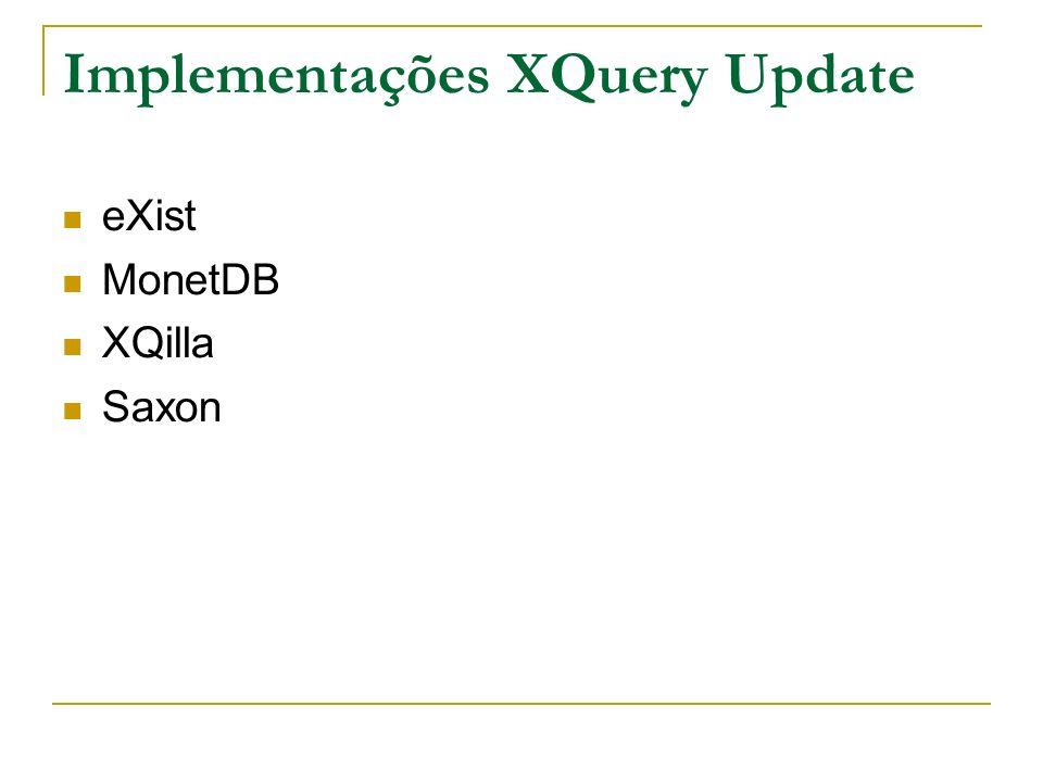 Implementações XQuery Update