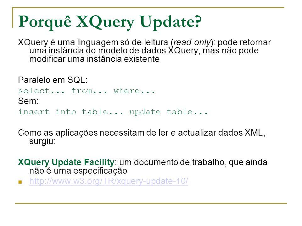 Porquê XQuery Update