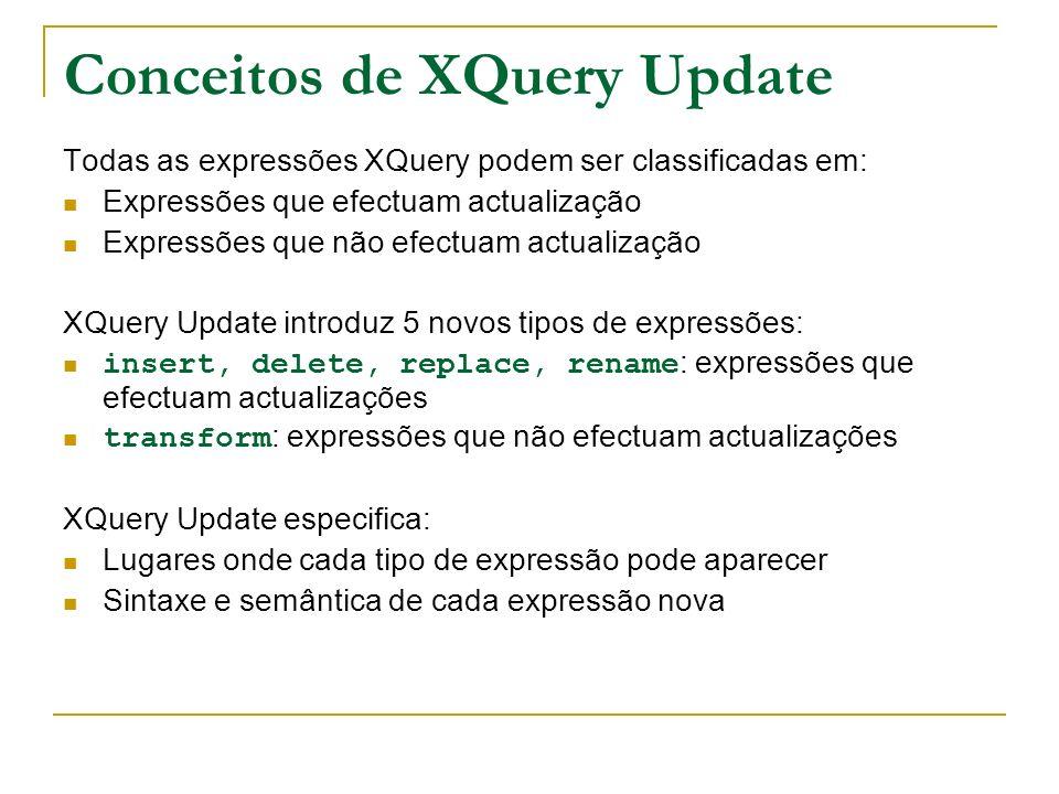 Conceitos de XQuery Update