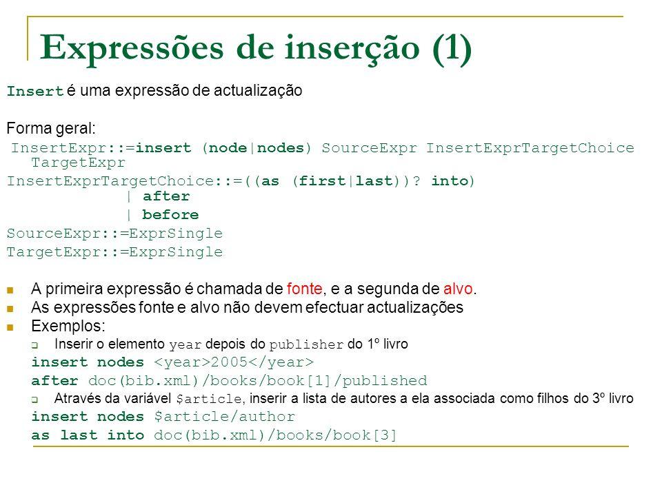 Expressões de inserção (1)