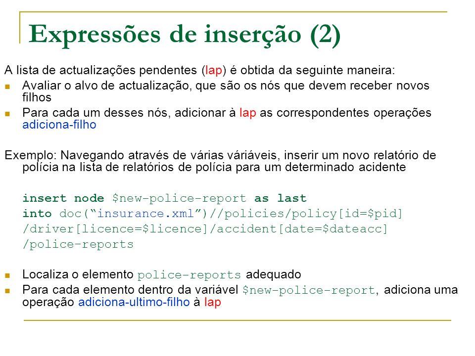 Expressões de inserção (2)