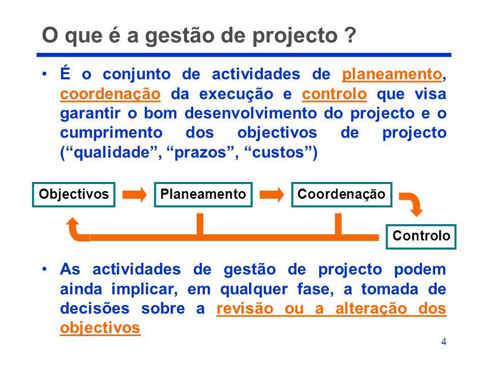 O que é a gestão de projecto