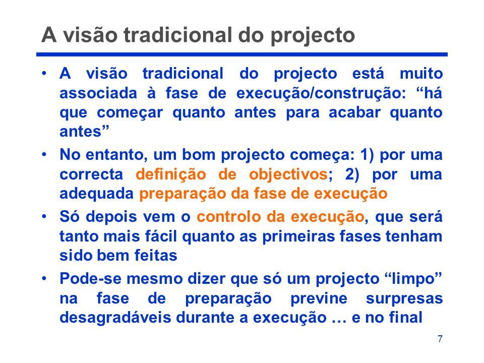 A visão tradicional do projecto