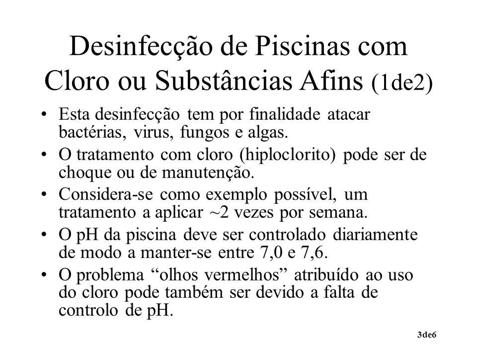 Desinfecção de Piscinas com Cloro ou Substâncias Afins (1de2)