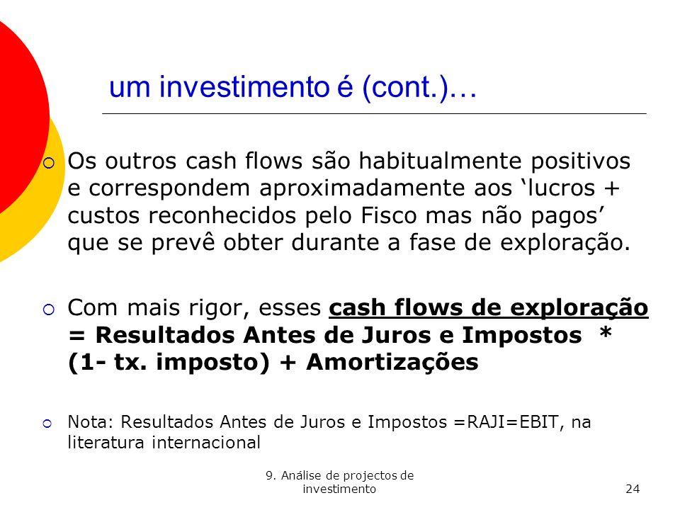 um investimento é (cont.)…