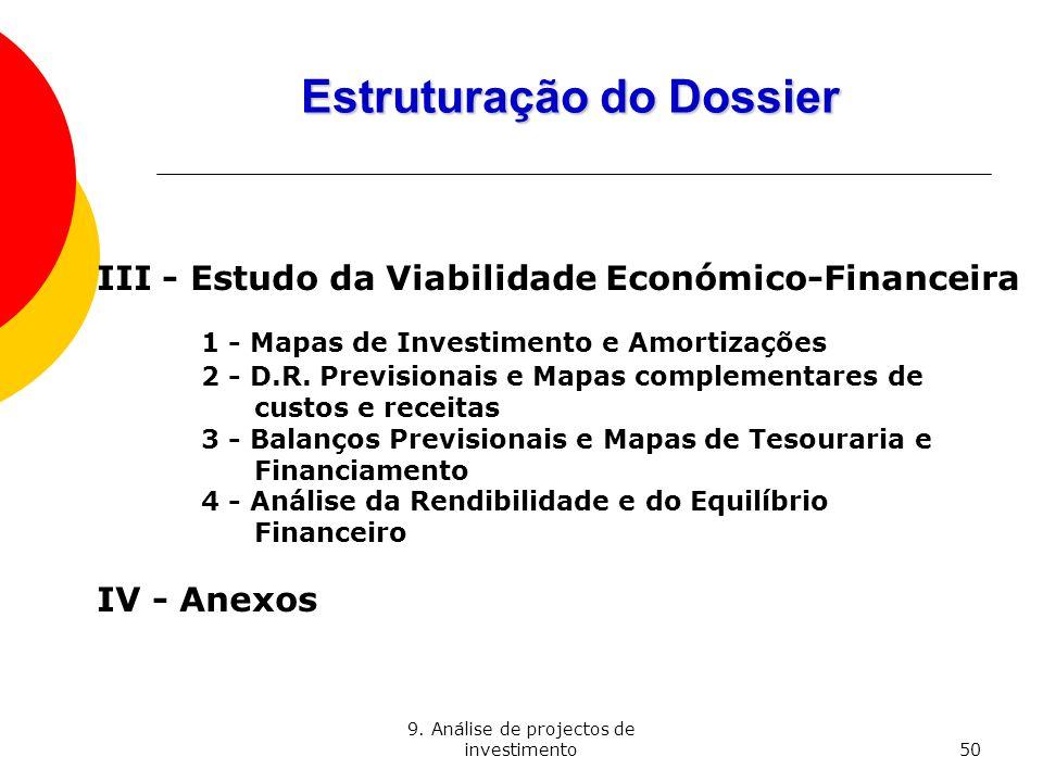 Estruturação do Dossier