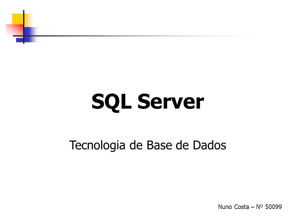 Tecnologia de Base de Dados
