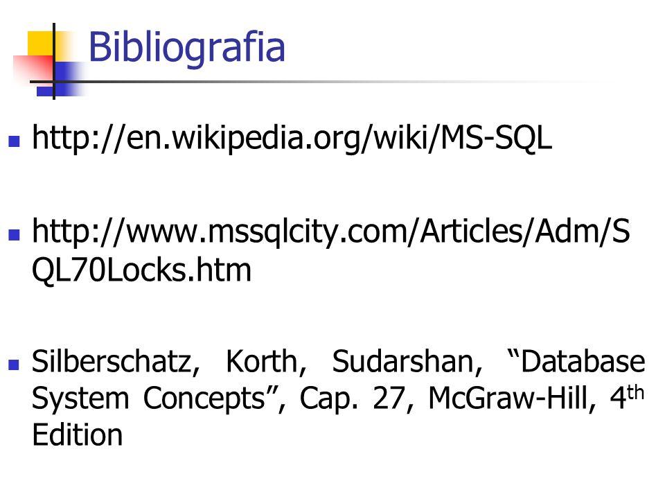 Bibliografia http://en.wikipedia.org/wiki/MS-SQL