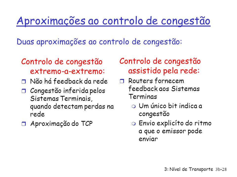 Aproximações ao controlo de congestão