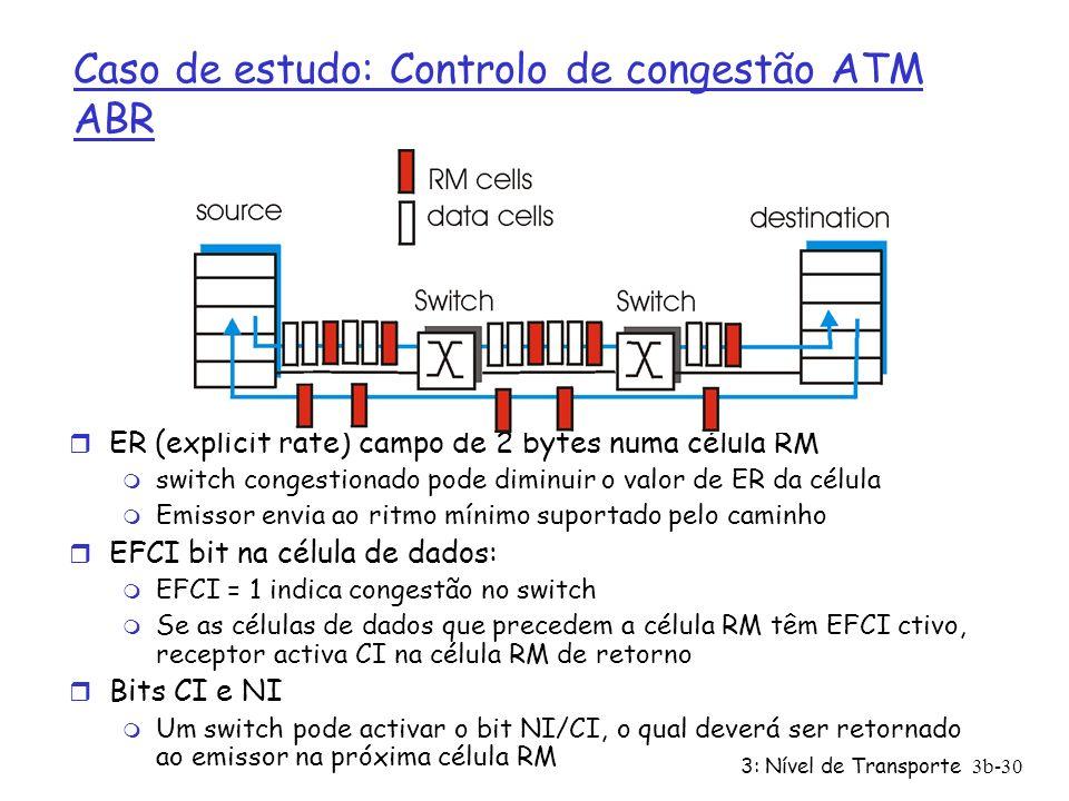 Caso de estudo: Controlo de congestão ATM ABR