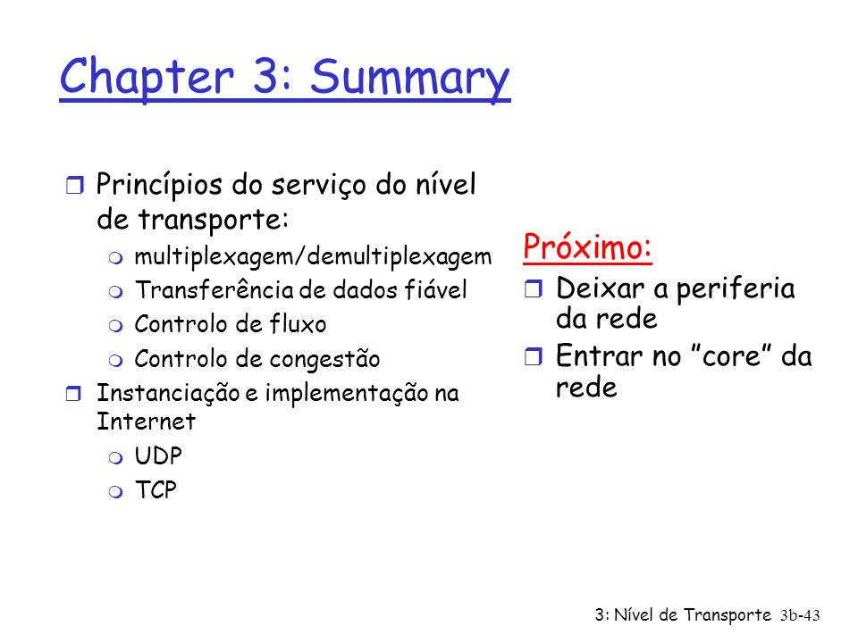 Chapter 3: Summary Próximo: