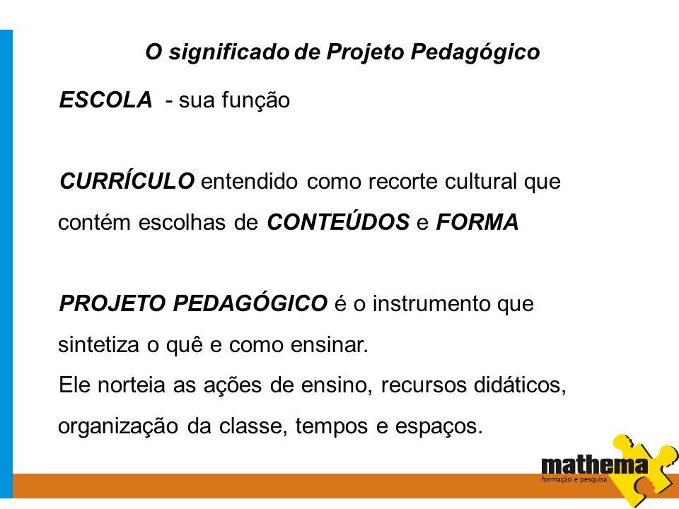 O significado de Projeto Pedagógico