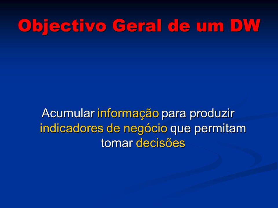 Objectivo Geral de um DW
