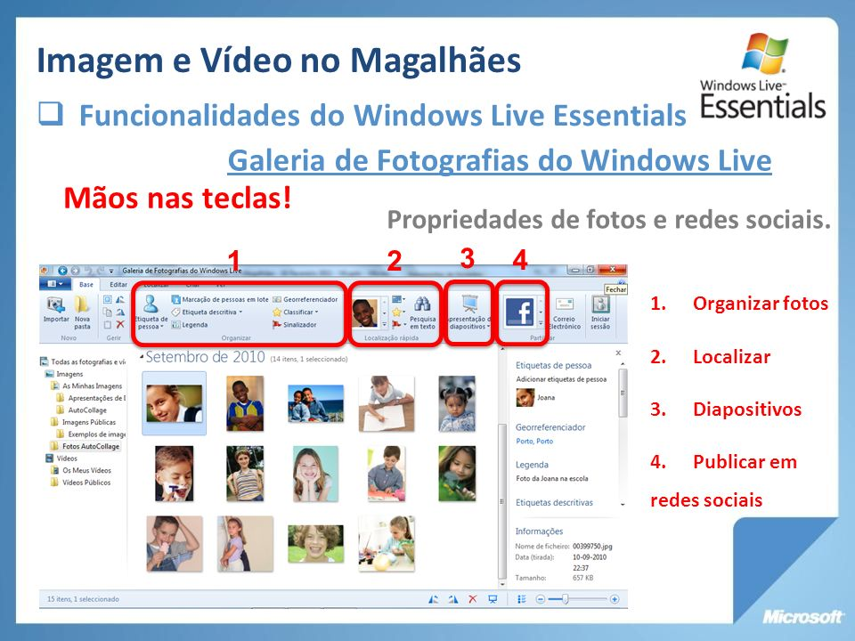 Galeria de Fotografias do Windows Live