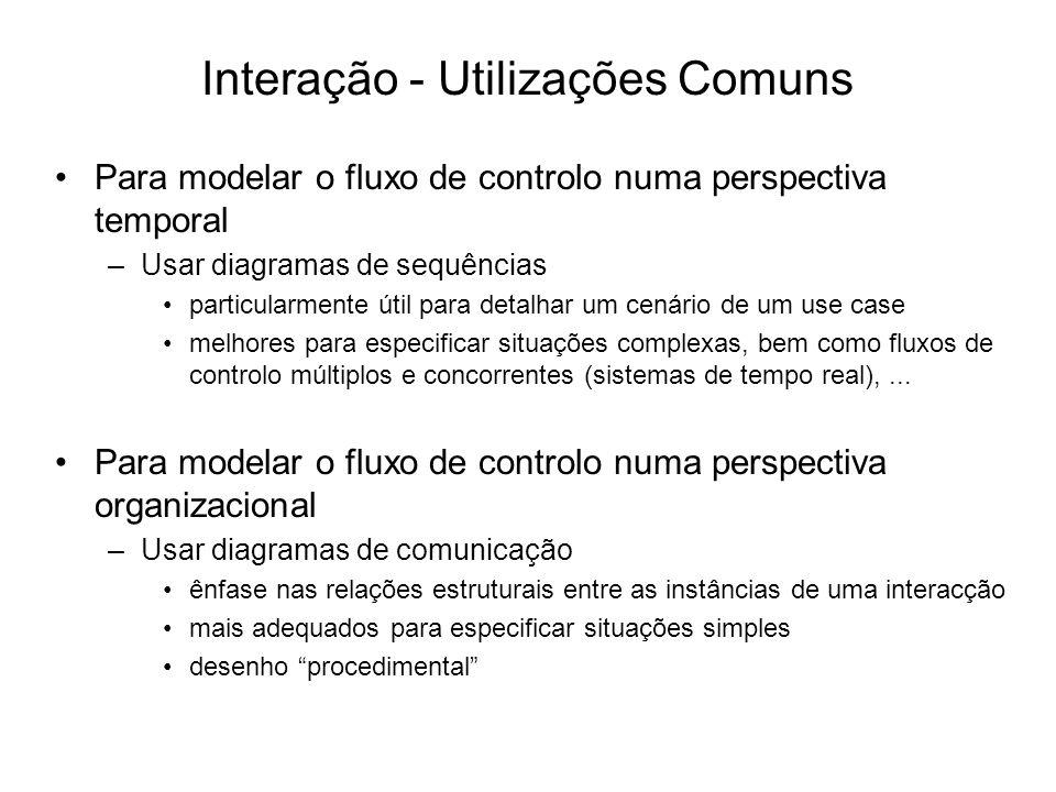 Interação - Utilizações Comuns