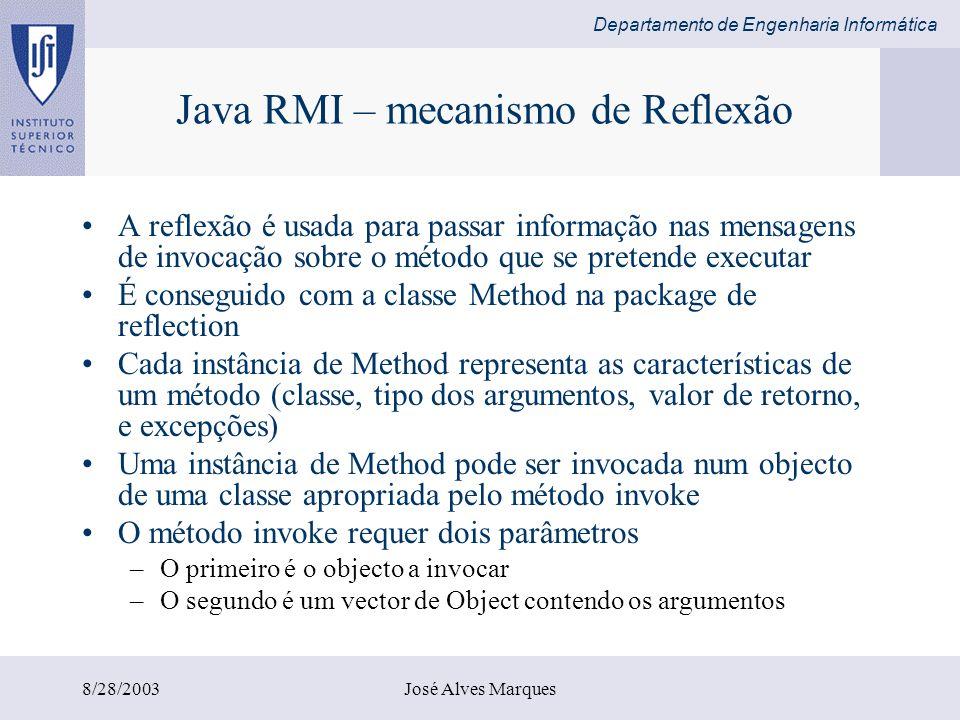 Java RMI – mecanismo de Reflexão