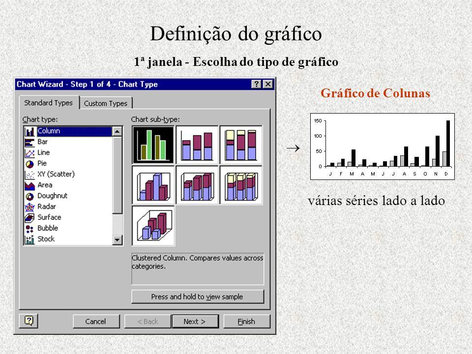 1ª janela - Escolha do tipo de gráfico
