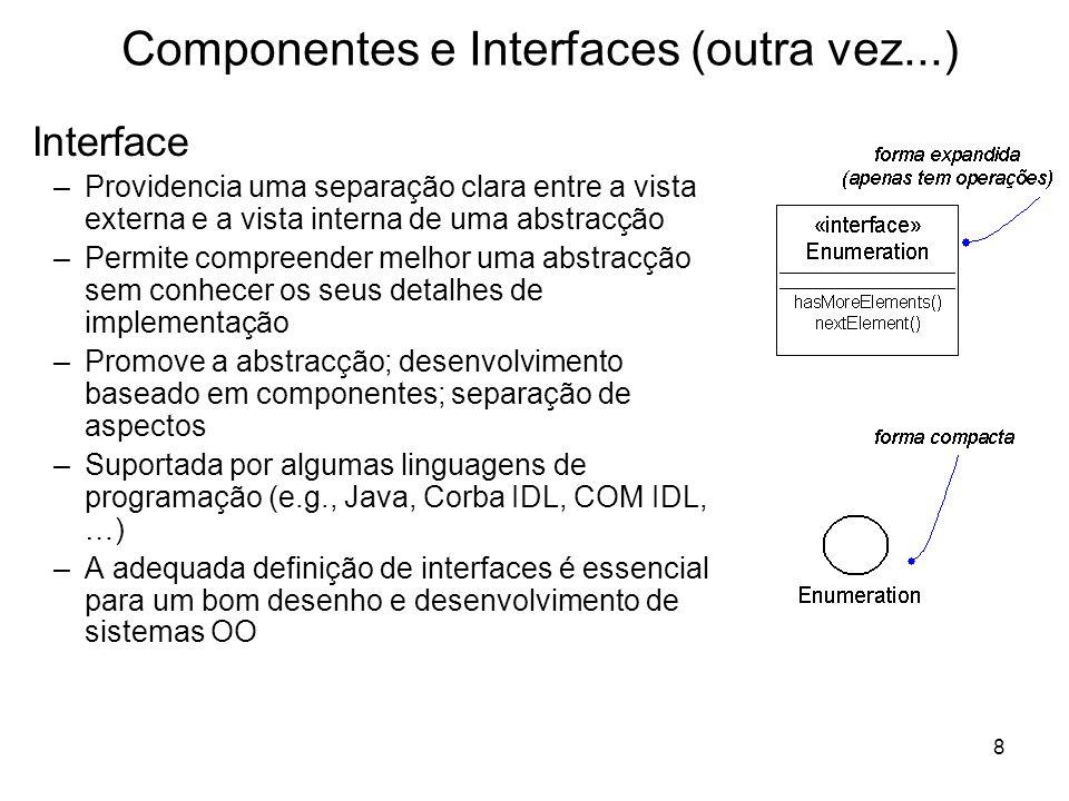 Componentes e Interfaces (outra vez...)