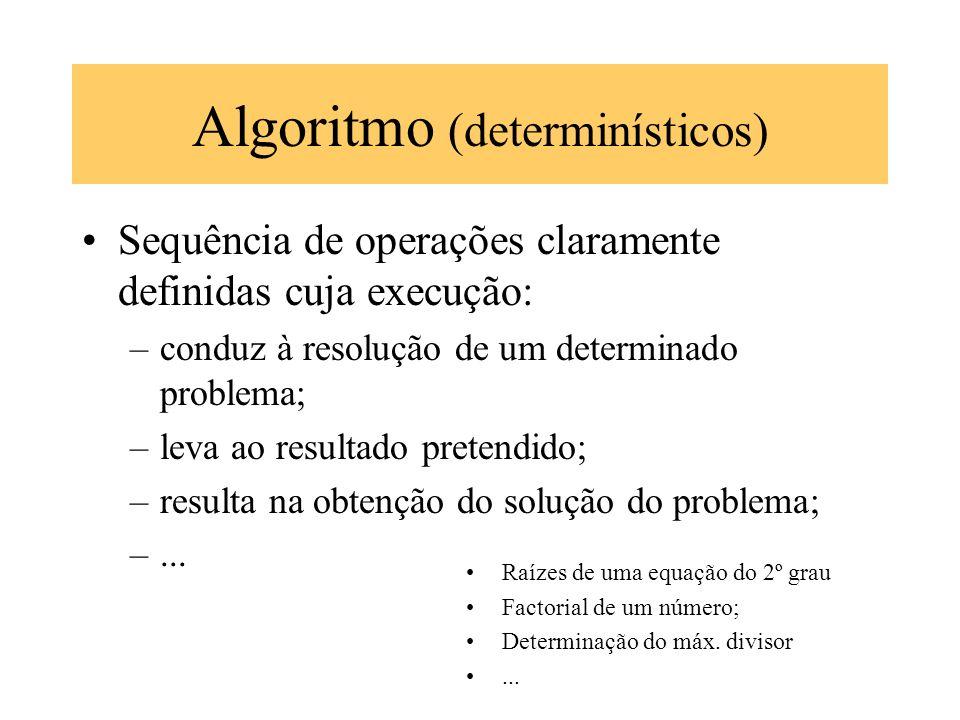 Algoritmo (determinísticos)
