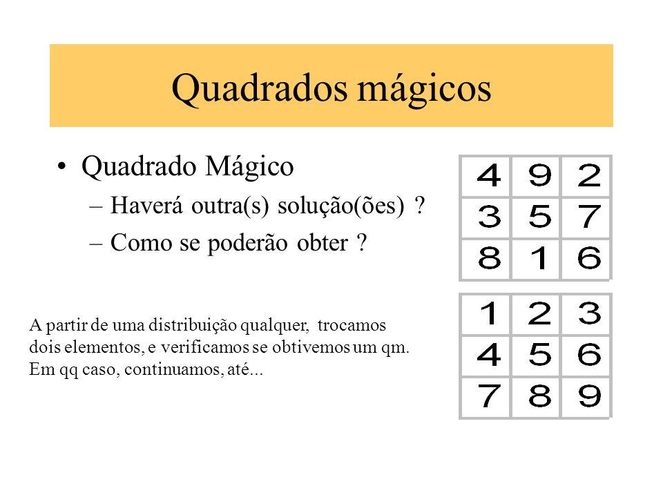 Quadrados mágicos Quadrado Mágico Haverá outra(s) solução(ões)