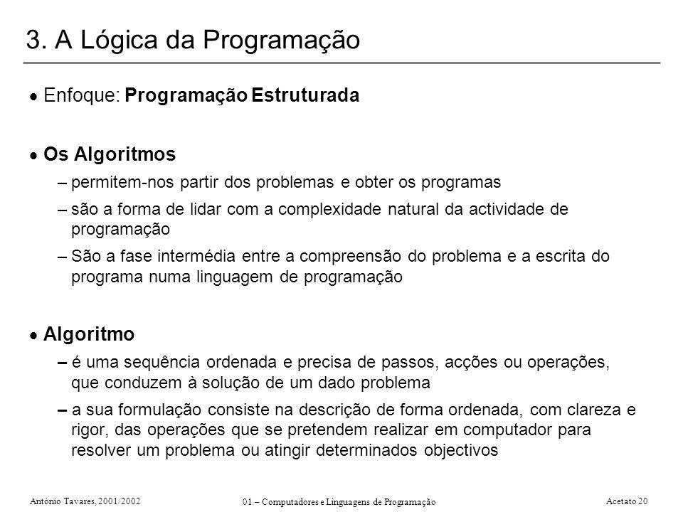 3. A Lógica da Programação
