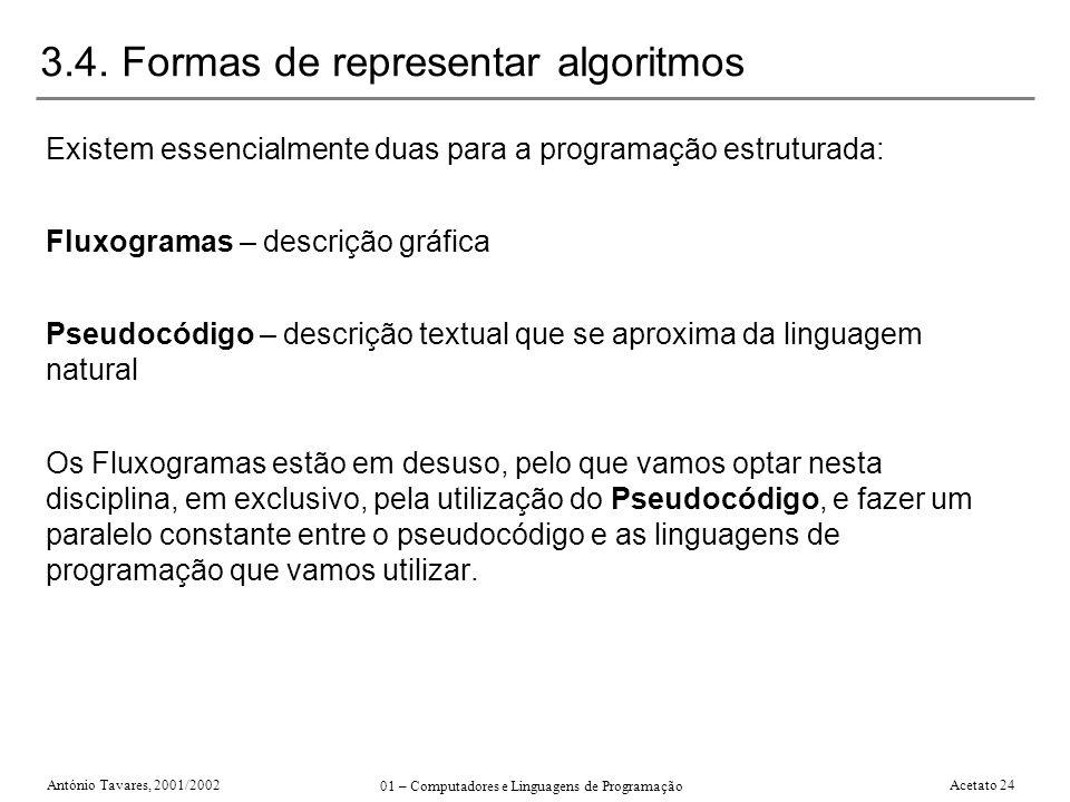 3.4. Formas de representar algoritmos