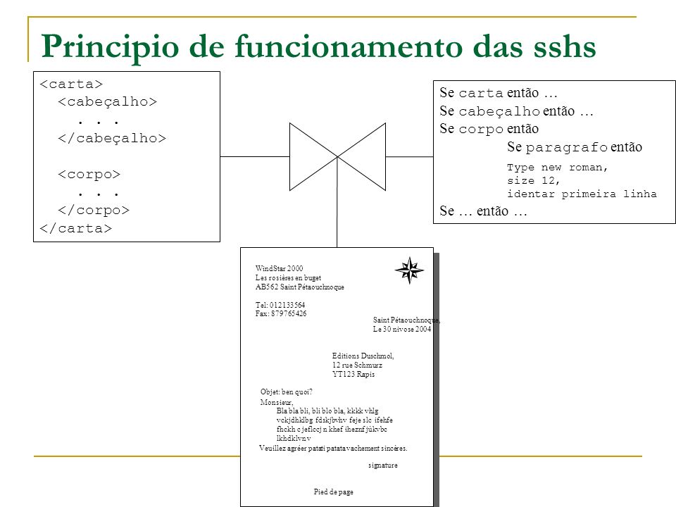 Principio de funcionamento das sshs