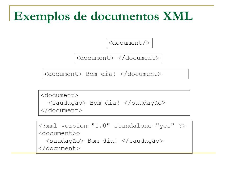 Exemplos de documentos XML