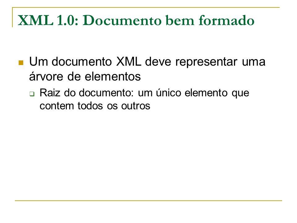 XML 1.0: Documento bem formado