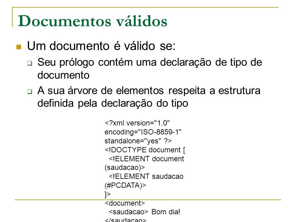 Documentos válidos Um documento é válido se:
