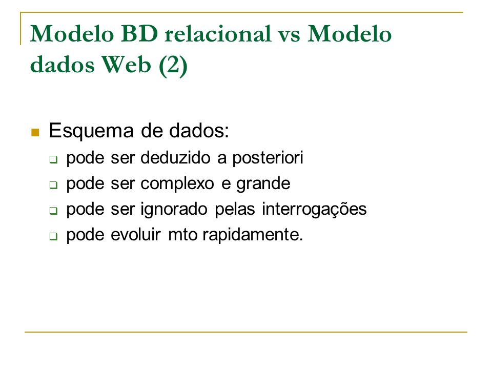 Modelo BD relacional vs Modelo dados Web (2)