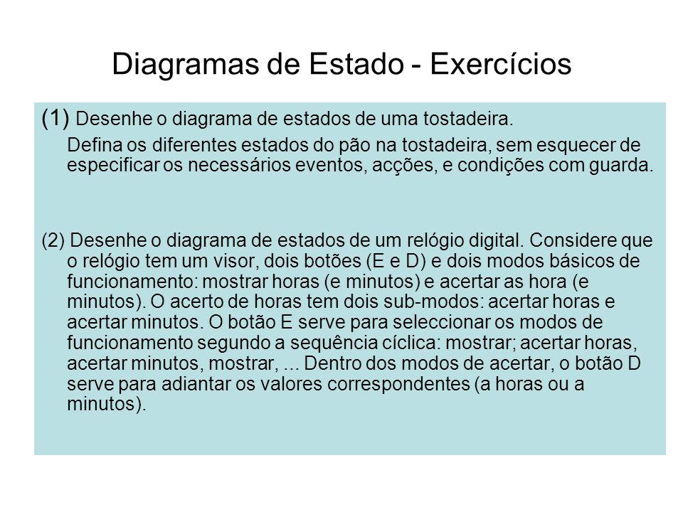 Diagramas de Estado - Exercícios
