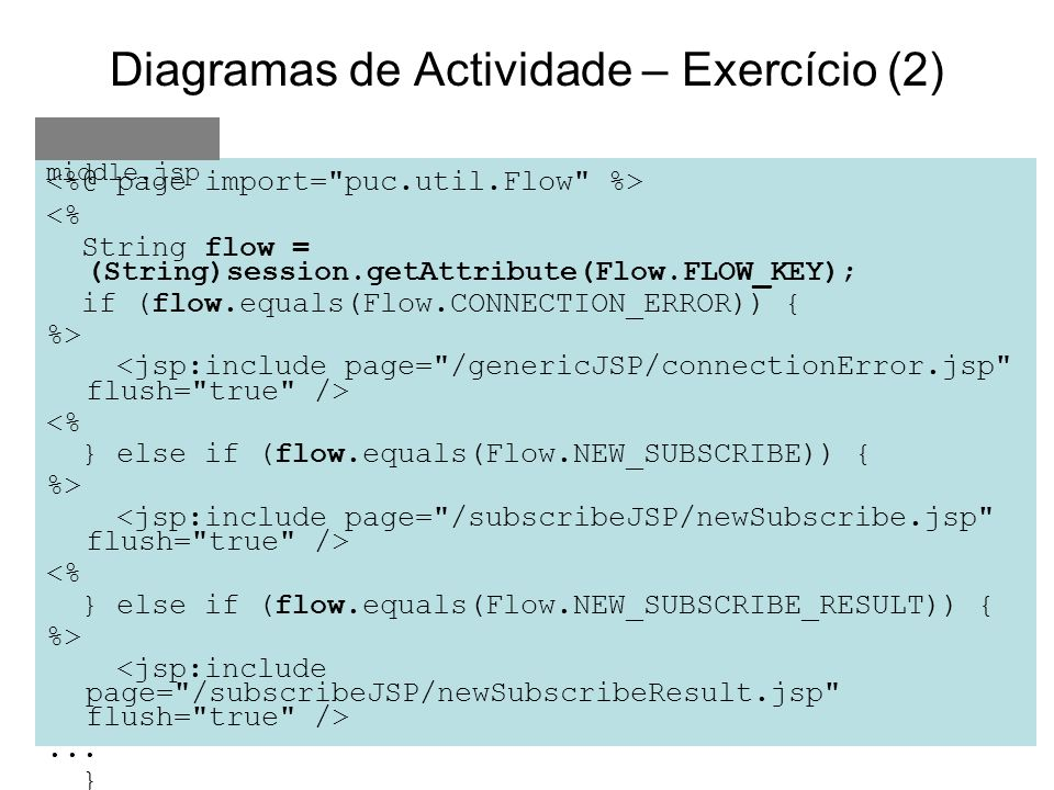 Diagramas de Actividade – Exercício (2)