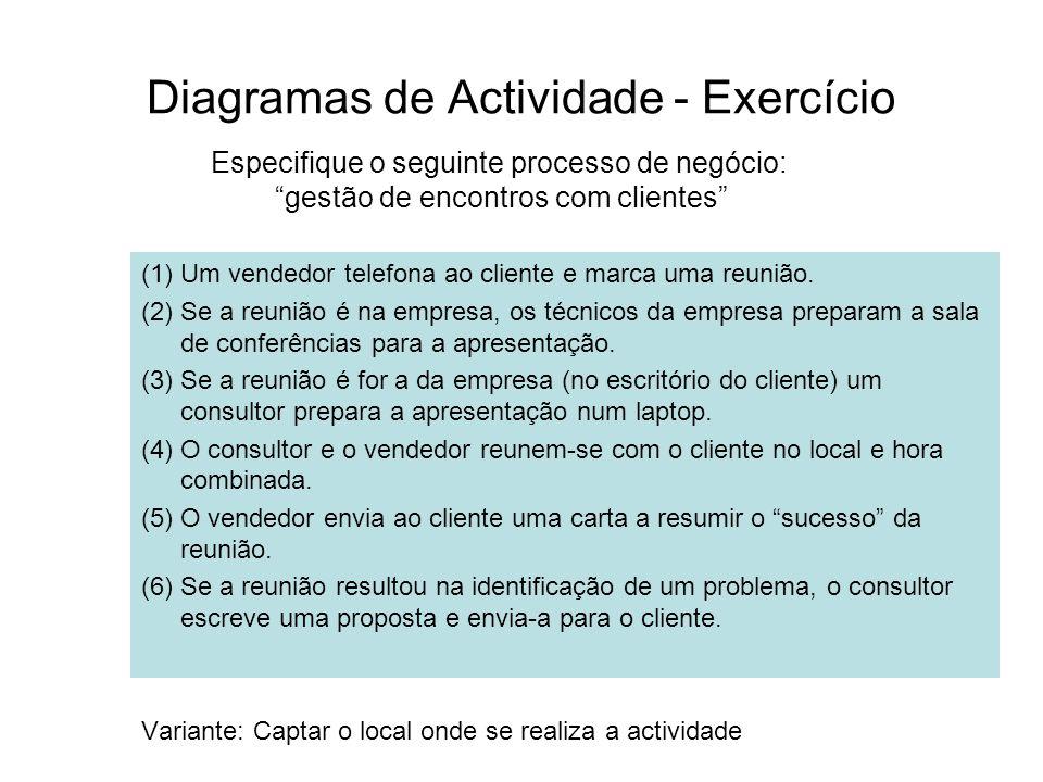 Diagramas de Actividade - Exercício