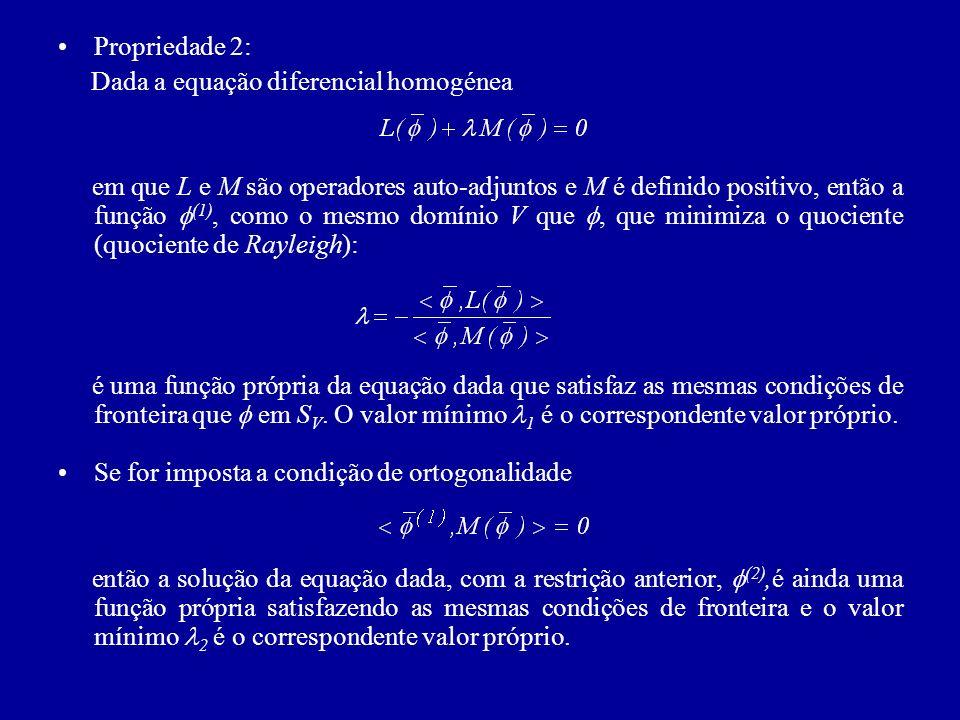 Propriedade 2: Dada a equação diferencial homogénea.