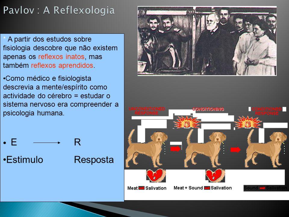 Pavlov : A Reflexologia