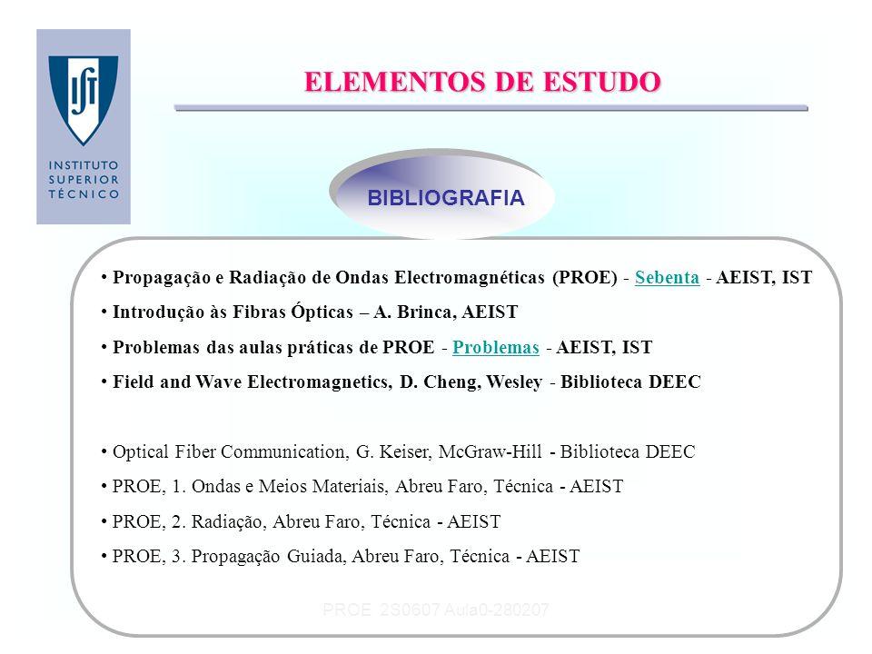 ELEMENTOS DE ESTUDO BIBLIOGRAFIA