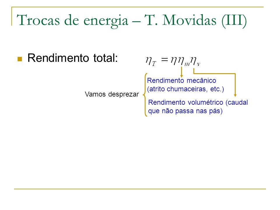 Trocas de energia – T. Movidas (III)