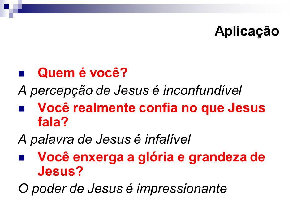Aplicação Quem é você A percepção de Jesus é inconfundível