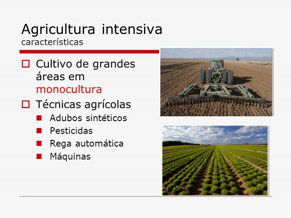 Agricultura intensiva características